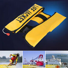 Adult Automatic Inflatable Life Jacket Buoyancy Aid PFD Boating Survival Vest
