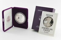 1991 American Silver Eagle - Proof - 1 Oz. Silver Bullion Velvet Box & COA