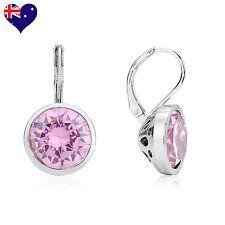 Bella 18ct Gold Pink Amethyst Zirconia Drop/Dangle Earrings Wedding-Gift
