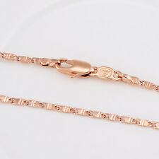 Fashion Jewelry Vintage Thin Chain Necklace Rose Gold Filled Curb Link