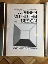 2 Bücher Möbel, Moderne Klassiker Wohnen mit gutem Design