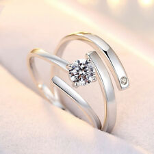 Silver Plated Adjustable Opening Ring Fashion Women Club Rings Jewelry Gifts