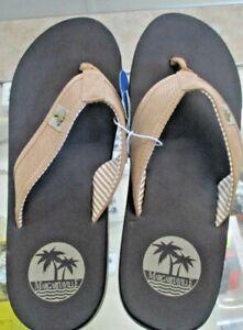 Brand New Margaritaville Sway Men's Sandal Flip Flop Flops Shoes tan brown