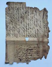 Antique 18th Century Original Parchment Letter Dated August 12th 1749