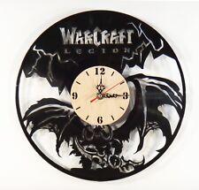 "NEW  Vinyl Record Wall Clock ""WarCraft Legion"", modern decorative art ~ 12"""