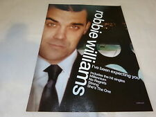 ROBBIE WILLIAMS - Publicité de magazine / Advert !! I'VE BEEN EXPECTING YOU ! UK