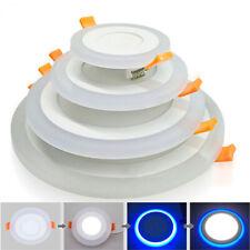 Двойные цветные круглые светодиодные потолочные светильники встраиваемые панель светильника крыльцо пятно лампа