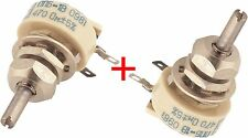 470 Ohms 1W LOT OF 2 WIREWOUND POTENTIOMETER VARIABLE TRIMMER RESISTORS PPB-1V