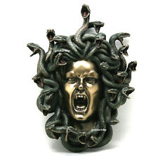 Medusa Head of Snakes Gothic Wall Plaque Décor Statue Bronze Finish 14.57in
