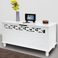 Holztruhe Jersey Truhe Aufbewahrungstruhe Wäschetruhe Sitzbank Holz Kiste weiß