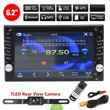 """2017 Bluetooth 6.2"""" Double 2DIN Car Radio Stereo DVD Player GPS Navigation + Cam"""