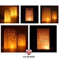 10x Luminary Paper Candle Tea Light Lantern Bags Decor Wedding Xmas Party Garden