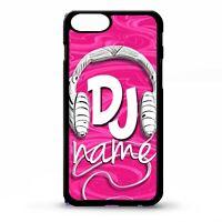 DJ mc headphone pink ibiza cool music custom personalised name phone case cover