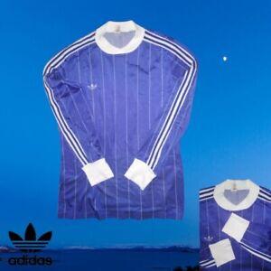 AUTHENTIC ADIDAS VINTAGE LONG-SLEEVED FOOTBALL SHIRT POLYAMIDE SIZE MEDIUM