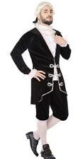 Déguisement Homme MARQUIS Noir XL Costume Adulte Courtisan Noble Médiéval NEUF