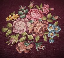 Tapestry Wall Hanging Chair Seat Cover Multi - Colored Roses Not Done Burgundy