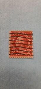 Antique George Washington 2 Cent Postage Stamp Red
