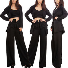 Completo tre pezzi donna elegante tailleur giacca pantaloni sexy TOOCOOL WD-3523