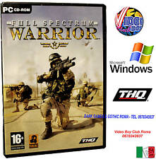 FULL SPECTRUM WARRIOR PC CD ROM WINDOWS NUOVO IN VERSIONE ITALIANA PAL ITALIA
