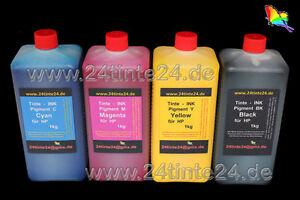 4x 1 L kg Tinte Pigment Ink HP 970 971 HP970 HP971 CN621 CN625 CN622 CN626 CN627