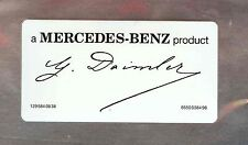 Daimler SIGNED Windshield Decal Sticker // a MERCEDES-BENZ product //