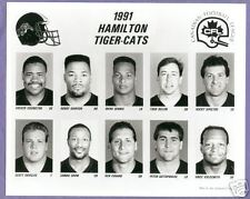 1991  CFL Hamilton Tigercats  Team Photo Set