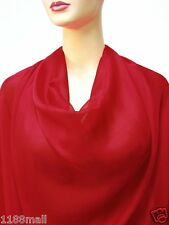 by the yard 100% pure silk chiffon fabric soft ahd sheer fabric  red color silky