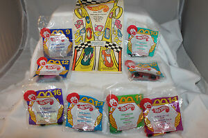 1995 McDonalds Hot Wheel Set with Original Happy Meal Bag