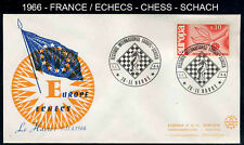 ---- ECHECS - CHESS - SCHACH / 1966 ENVELOPPE ILLUSTREE (ref 597)