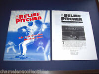 RELIEF PITCHER By ATARI 1992 ORIGINAL VIDEO ARCADE GAME SERVICE REPAIR MANUAL