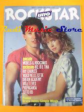 rivista ROCKSTAR 64/1986 POSTER Grace Jones Vasco Propaganda Ray Charles No cd