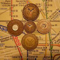 NYC New York City Subway Tokens, and Map