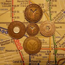 Nyc New York City Transit Authority Subway Tokens, and Map