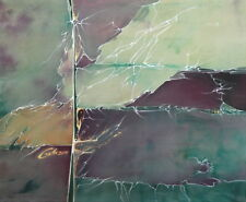 2000 SILK PAINTING ABSTRACT COMPOSITION