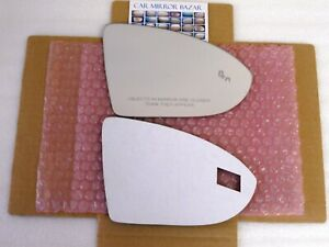 D579R-S Mirror Glass for VW Golf GTI Jetta with Blind Spot + Adhesive Passenger