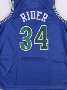 Isaiah Rider Signed Jersey (PSA COA)Minnesota Timberwolves