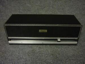 Discgear Black Faux Leather 120 CD DVD Holder Storage Box