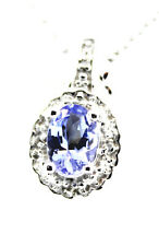 Tanzanite 2.38 Ctw w White Topaz .08 Ctw. Sterling Silver Ring, Pendant, Earring