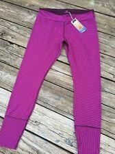 PRANA Sapphire Leggings Sz XL Black Plum Stripe