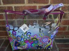 NWT Vera Bradley Clearly Colorful Beach Tote Airline Shopping Bag Heather