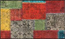 Fußmatte Wash Dry Design Vintage Patches 75x120 Cm