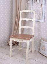 Shabby chic Stuhl vintage retro Esszimmerstuhl altweiss Holzstuhl Landhausstil