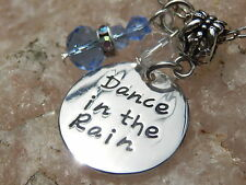 Dance in the Rain Necklace, Inspirational Jewelry, Crystal Raindrop, Gift idea