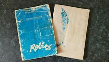2 x Owners Handbook for Reliant Robin 750 and Reliant Robin 850 - All models