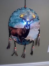NEW LED BACKLIGHT BUCK DEER COLORFUL PAINTING LOOK OVAL SHAPE DREAM CATCHER