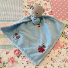 Me To You Tatty Teddy Blue Grey Bear Baby Comforter Blanket Soft Toy