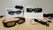 SainSonic 3D Active Shutter Glasses Rechargeable TV Three Dimensional Two pairs