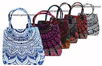 Indain Mandala Printed Handbag Cotton Women Satchel Purse Lady Tote Bag Shoulder