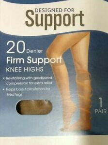 Designed for Support 20 Denier Firm Support Tights - One Size - Natural Colour