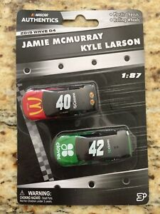 NASCAR 1:87 #40 JAMIE MCMURRAY & #42 KYLE LARSON -  2019 Wave 04 ROLLING WHEELS